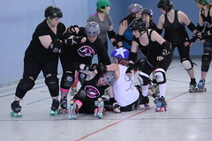 Training camp with Hammer Slammer (April 30 2016, Halifax NS) (RicLaf) Tags: novascotia rollerderby halifax derby trainingcamp hammerslammer fogcityrollers anchorcityrollers