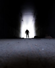 RAS DU SOL 011 (STEPHANE COSTARD PHOTOGRAPHIE) Tags: light people man silhouette canon photography bretagne tunnel brest serie projet finistre ratseyeview rasdusol g5x