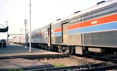 Train Time in Joliet (craigsanders429) Tags: amtrak rockisland passengertrains passengercars jolietillinois amtraktrains chicagorockislandpacific amtrakstations amtrakbaggagecars amtrakslonestar