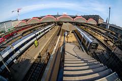 Kbenhavn H (Hkan Dahlstrm) Tags: travel station copenhagen denmark photography central platform tracks f10 staircase dk 8mm uncropped danmark kbenhavn 2016 kpenhamn kbenhavnv xe2 1850sek 2101052016104115