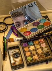 Eye Make Up (D-W-J-S) Tags: face make up effects paint makeup special faceless sfx linzipeters