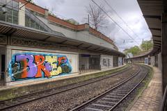 Bree (Herbalizer) Tags: vienna wien station wall graffiti austria sterreich wand linie wiener bree bb trackside linien
