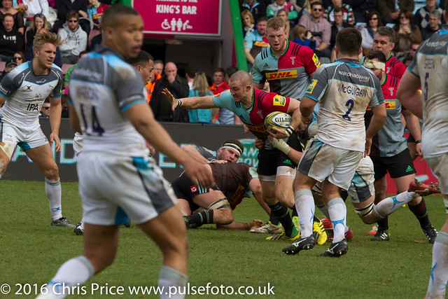 Quins 46 Newcastle 25 Aviva Premership 2nd MApril 2016