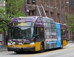 King County Metro 2015 New Flyer XT40 4307 (zargoman) Tags: seattle county travel bus electric king metro trolley transportation transit kiepe elektrik kingcountymetro newflyer lowfloor xcelsior