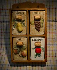 Cinnamon Girl (BKHagar *Kim*) Tags: old kitchen vintage ceramic sale antique cinnamon garage spice find challenge spicerack estatesale bkhagar julesphotochallengegroup