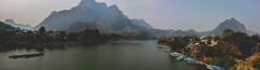 View from the Bridge (laurenseesmore) Tags: bridge mountain river se asia laos lao pdr nong khiaw