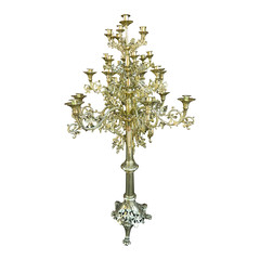 Circa 1860 Pair of Tall Floor Standing Twenty Five Candle Candelabras (thehighboy) Tags: lighting miami antiques collectibles highboy candelabras decorativeaccessories candlecandelabras