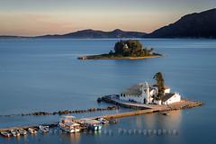 Kanoni - Vlacherna Monastery (http://arnaudballay.wix.com/photographie) Tags: longexposure sea church greece corfu grece monastry corfou ionian kerkira gnd mouseisland kanoni nd1000 leefilter nisifilter