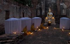 0039 Buddhist monks at evening prayers--Ayuthaya , Thailand (ngchongkin) Tags: thailand monks ayuthaya earthasia wonderfulasia