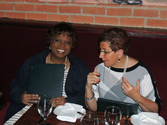 """Wanda Parker and Kay Smallwood at the club dinner on Friday night.Photo credits: Ed SmallwoodMore information: <a href=""""http://northraleighrotary.org/2016-district-conference"""" rel=""""nofollow"""">northraleighrotary.org/2016-district-conference</a>"""