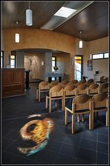 DSC01137  -  Gottingen,  Krankenhaus Weende, Kapelle - Lichteinfall vom Fenster (Max-Friedrich) Tags: hospital altar architektur spiegelbild gttingen krankenhaus orgel kapelle leicam8 gttingen ilce7rm2