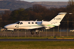 G-LEAC.EDI210416 (MarkP51) Tags: plane airplane scotland airport nikon edinburgh image aircraft aviation 510 edi cessna bizjet egph corporatejet citationmustang d7200 gleac markp51