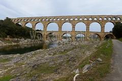 40080151 (wolfgangkaehler) Tags: bridge france water french europe european roman bridges unescoworldheritagesite aqueduct nimes pontdugard aqueducts southernfrance 2016 1stcenturyad gardonriver garddepartment