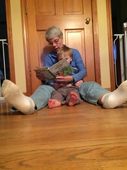 "Grandma Morton reads to Paul • <a style=""font-size:0.8em;"" href=""http://www.flickr.com/photos/109120354@N07/26559710831/"" target=""_blank"">View on Flickr</a>"