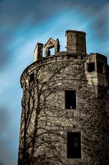 Overshadowed (Derek Coull) Tags: longexposure sunset sky tree castle silhouette architecture scotland ruin landmark medieval bailey historicscotland huntly marquis robertthebruce towerhouse grampian motte overshadow clangordon earlsoffife samsungnx500 peelofstrathbogie built1190