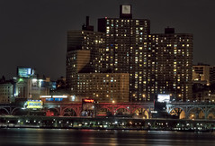 Harlem Nocturne (LennyNJ) Tags: nyc newyorkcity night harlem manhattan hudsonriver nightphoto 12thavenue