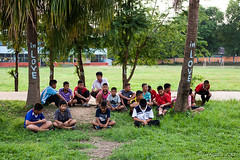 Boys in the Yard 6066 (Ursula in Aus - Away) Tags: thailand thep maehongson