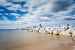 Grand Haven (randyr photography) Tags: longexposure clouds pier michigan lakemichigan lee boardwalk grandhaven puremichigan bigstopper