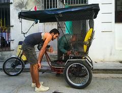 Havana. Cuba (H.L.Tam) Tags: street taxi havana cuba documentary sketchbook driver cuban iphone bicycletaxi habanavieja photodocumentary iphone6s harbana bicycleincuba