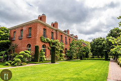 Filoli Gardens California-Central-Coast 2016-05-02 (randyandy101) Tags: panorama brick grass landscape photography brickwall mansion lowclouds pathway englishgarden greengrass californiacentralcoast greenfields filoligardens