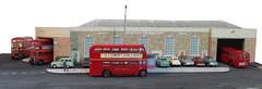 Bromley bus garage (kingsway john) Tags: bus london scale model garage transport models rt diorama kingsway tb rf bromley 176 oogauge