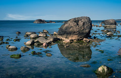 Rocks (Thomas Heuck) Tags: sea water reflections rocks wasser steine ostsee reflektion greifswald bodden lubmin