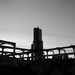 Rotterdam (milov) Tags: bw architecture composition phonecam square rotterdam montevideo kopvanzuid motox rijnhaven tweetme fbme instagram