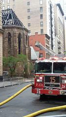 St. Sava & Firetruck (edenpictures) Tags: newyorkcity church fire aftermath manhattan landmark morningafter historic damage flatirondistrict saintsava serbianorthodoxcathedral