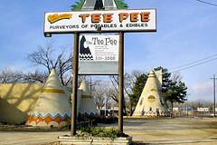 Roadside America - Lawrence, Kansas (frank thompson photos) Tags: nostalgia kansas roadsideattractions lawrencekansas tipiteepee bartavernsaloonpub