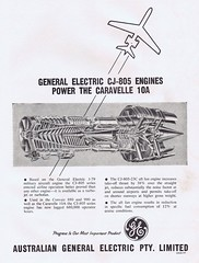 General Electric 1962 (Runabout63) Tags: electric plane general aircraft jet australian engine advert airliner caravelle