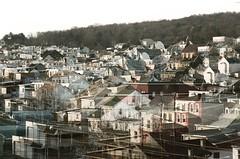(Pheral Lamb) Tags: houses film pennsylvania doubleexposure mountaintown multipleexposure pa ashland kodak400 28105 nikonf4 ultramax coaltown coalcountry