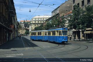 Zagreb Đuro Đaković TMK101 144 + Bw 687 in der Draškovićeva ulica, 30.06.2002