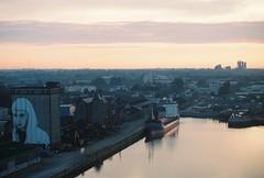 limerick, october 2014 (kodacolorframes) Tags: travel ireland streetart film docks 35mm europe minolta shannon x700 fujipro400h