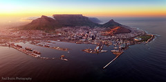 Cape Town Aerial Sunrise Panorama (Panorama Paul) Tags: panorama sunrise southafrica capetown aerialphotography westerncape nikkorlenses nikfilters nikond800 wwwpaulbruinscoza paulbruinsphotography nicokohne