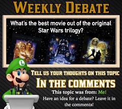 WEEKLY DEBATE- What's the Best Movie Out of the Original Star Wars Trilogy? (Luigi Fan) Tags: new original 6 hope star back 5 4 v return empire jedi wars iv strikes episode vi trilogy