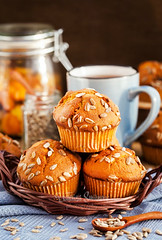 Pumpkin muffins (Katty-S) Tags: morning food cake breakfast pumpkin dessert muffins baking sweet bakery muffin bake raisin