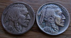 "'The Warrior' Hobo nickel/coin carving • <a style=""font-size:0.8em;"" href=""http://www.flickr.com/photos/72528309@N05/24274521749/"" target=""_blank"">View on Flickr</a>"