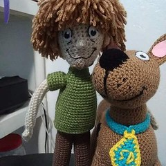Shaggy & Scooby Doo (CrochetKittyCreation) Tags: handmade crochet cartoon scoobydoo shaggy custom amigurumi mysteryincorporated chrochetkitty