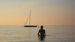 Quiet Dawn (jonathan charles photo) Tags: light art beach swim dawn photo topf75 cornwall jonathan charles perhaver