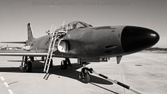 Swedish Air Force Lansen. (spencer.wilmot) Tags: blackandwhite sepia plane airplane aircraft aviation jet f3 saab airbase militaryaviation f7 stens heritageflight esib lansen j32 airside swedishairforce 32542 saablansen