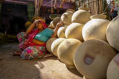 P1030152.jpg (mel.seale) Tags: india lumix cycling travels market delhi photobook panasonic pots clay rajasthan exodus jodhpur 2014 lx5