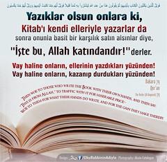 Kerim Kuran 2-79 (Oku Rabbinin Adiyla) Tags: book god muslim religion jesus bible allah quran verse ayah oku kuran ayet okurabbini