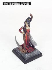 Cleric of Urgathoa (whitemetalgames.com) Tags: white metal female miniatures miniature reaper mini games fantasy rpg sickle dd minis necromancer pathfinder scythe cleric wmg