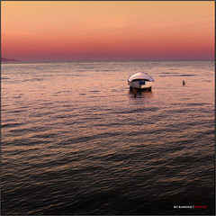 sunset with boat (bit ramone) Tags: sunset sea italy beach atardecer boat mar barca italia playa sicily sicilia portoempedocle bitramone meditérraneo coth5