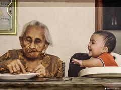 Century (Faizan Adil.) Tags: pakistan portrait last century canon fun photography rebel 50mm image grandmother grand indoor grandson nephew tribute supper punjab lahore fatima aziz adil t3i faizan flickrs prophotographers mentorasifzaidi