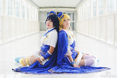 Love Live! Shoot (Barbara Naomi) Tags: sky sign museum night mac cosplay ibirapuera cosplayer ll starry starrynight lovelive
