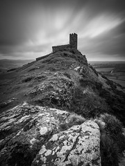 Brentor (Timothy Gilbert) Tags: longexposure blackandwhite church wideangle devon tavistock ultrawide brentor brenttor 10stop saintmichaelderupe olympus918mmf4056