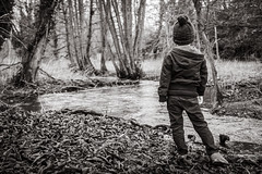 A Brief Pause (Andy.Dixon85) Tags: travel light boy blackandwhite bw love monochrome kids river children kid model exposure fuji child character lifestyle wanderlust adventure explore fujifilm f2 bandw fujinon available lightroom documentry xseries x100 x100t