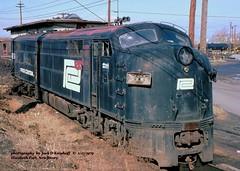 .PC 4224, E-port, NJ.  1-27-1979 (jackdk) Tags: railroad train pc railway locomotive e7 e9 e8 roster emd penncentral emde9 emde7 emde8 locomotiveroster