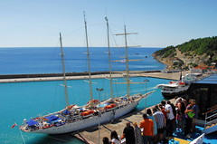 Port of Katakolo (petrk747) Tags: voyage cruise sea sky travelling port coast heaven outdoor greece olympia mediterraneansea ioniansea mediterraneancruise portofkatakolon saariysqualitypictures